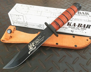 Indian Stainless Steel Survival Kabar Fixed Bowie Hunting Knife