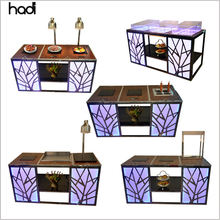 Custom catering restaurant buffet counter design modern hotel buffet table with food warmers