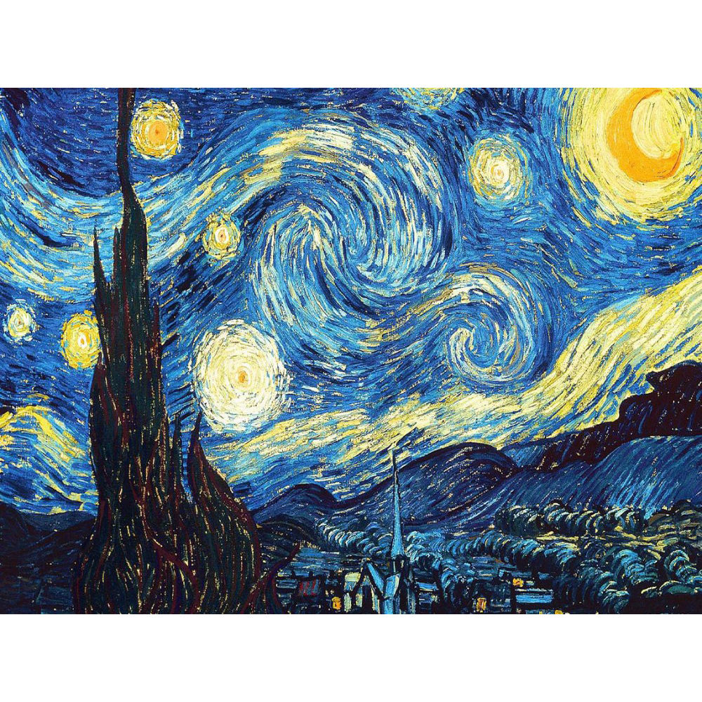 Home Decoration DIY 5D Diamond Van Gogh Starry Night Kits Abstract Resin Hobby Craft