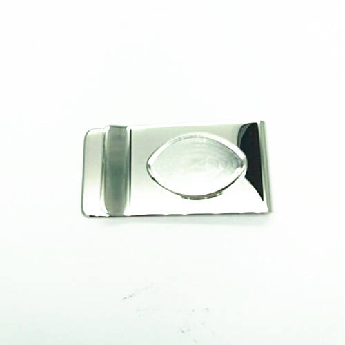 Custom Design Coin Bezel Pocket Cash Clip Blank Stainless Steel Metal Money Clip With Coin Holder