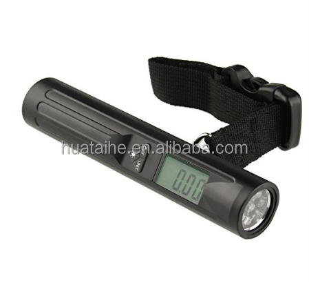 Logo Print LED Flashlight Digital Counter China Indicators Scales Turkey Travel Luggage Scale