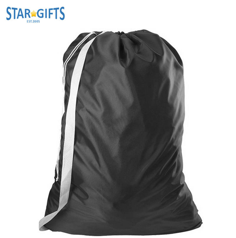 420D Nylon Custom Wholesale Cheap Dust-proof Water-proof Room House Family Laundry Bags With Shoulder
