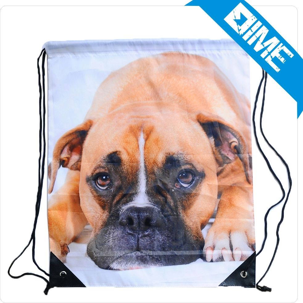 Manufactures In Albania Custom Printed Drawstring Custom Bags With Animal