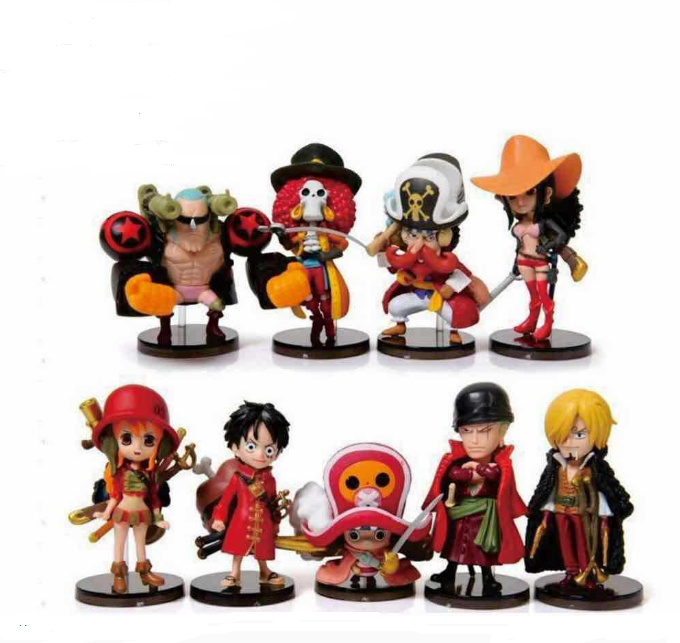 Fanny Craft 9pcs/Set mini One Piece Figures New Anime Figura Luffy Action Figurine Classic Collection Model Toys
