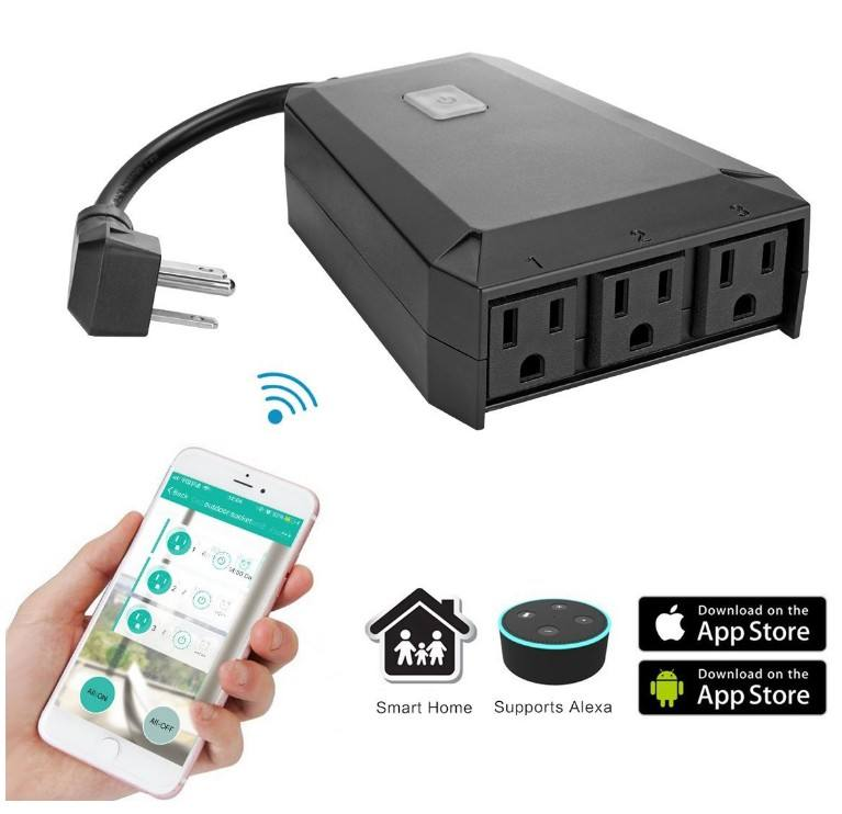 Wireless remote smart APP control Outdoor waterproof smart wifi electric outlet