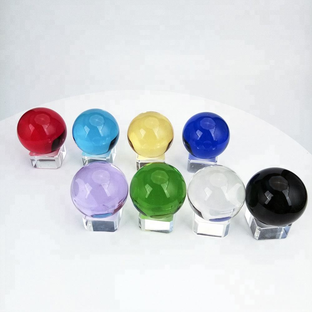 Free Shipping 10PCS Home Decoration K9 Material Diamond 60mm Magic Seven Color Crystal Ball