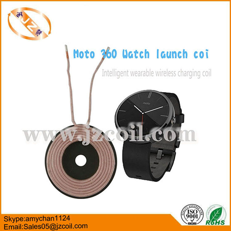 Custom tx wireless charger electromagnetic coil for Moto 360 watch