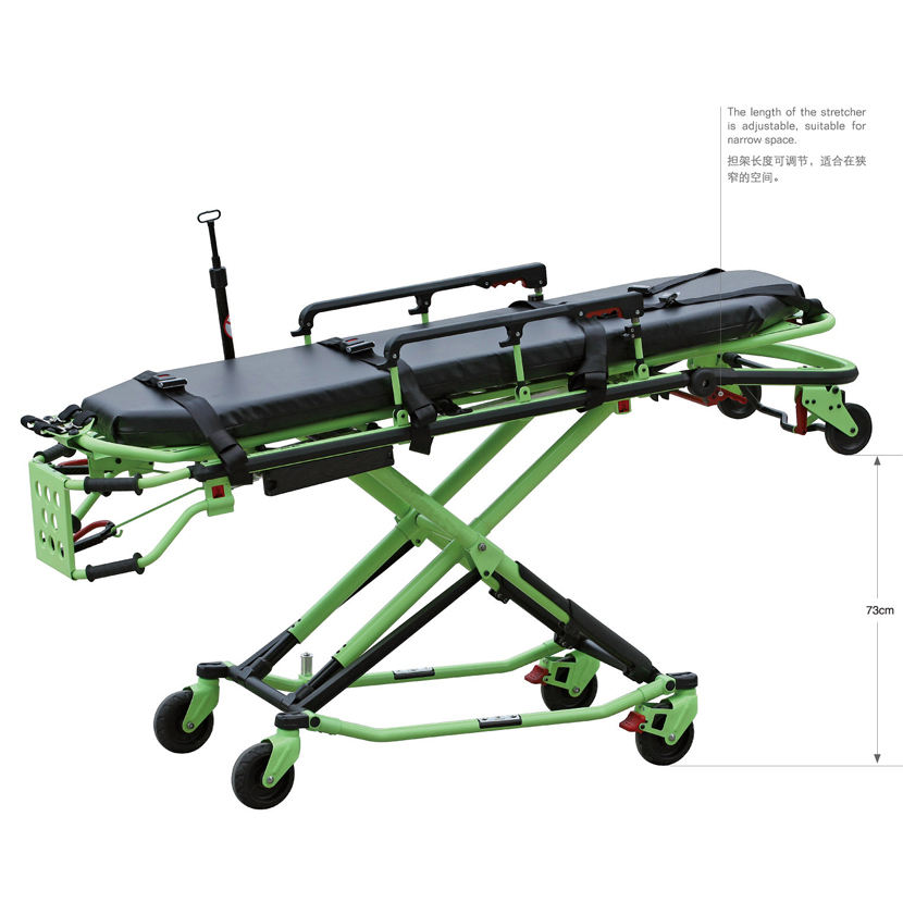 High Quality Aluminum Alloy Ambulance Stretcher for ICU( PWS-3EW)