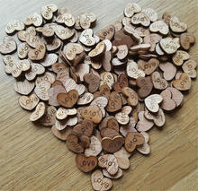 Wood Wooden Love Heart For Wedding Table Scatter