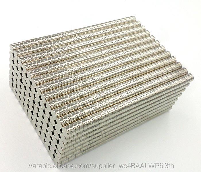 """مصغرة 2 ملليمتر x 1 ملليمتر 1/12 """"x1/25"""" مغناطيس قوي n35 النادرة النيوديميوم"""