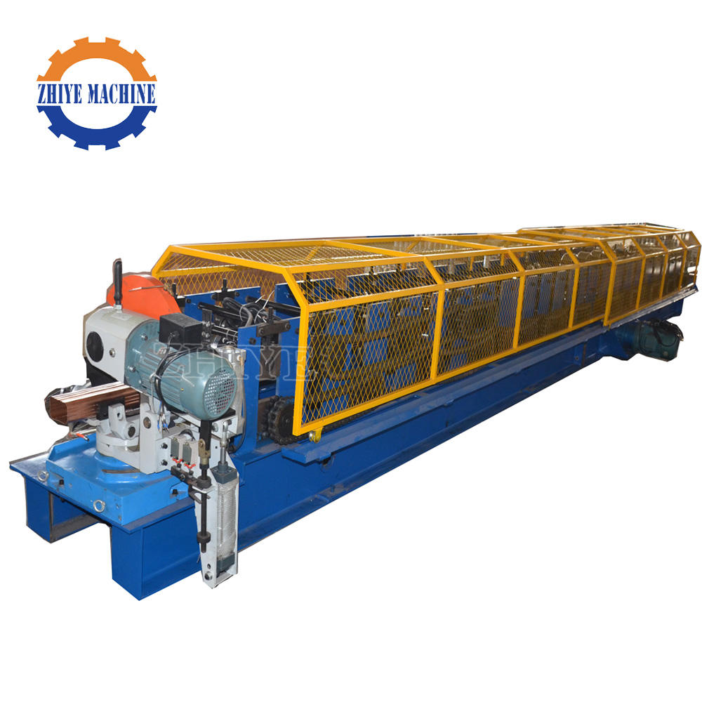 Square Downpipe Rain Gutter Cold Roll Forming Machinery