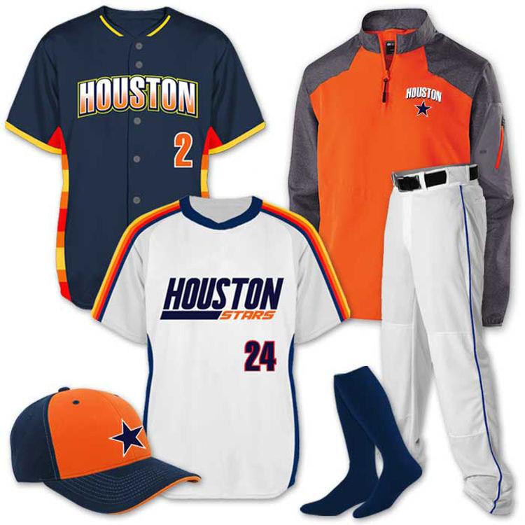 Adult softball uniforms