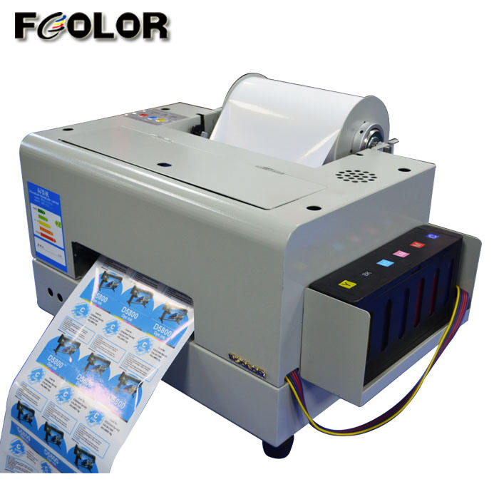A4 Roll To Roll Digital Inkjet Color Label Printer 6 Colors