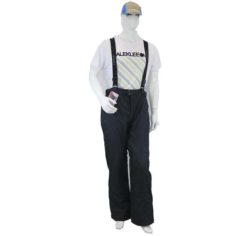 Good quality 100% polyester black windproof ski pants