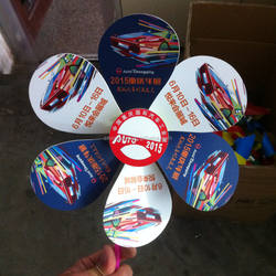 car promotion laminating Paper handle poster windmill