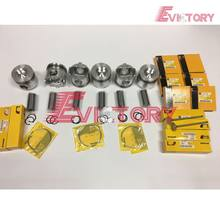 For caterpillar E200B engine parts  3116 3116TA piston and piston ring set
