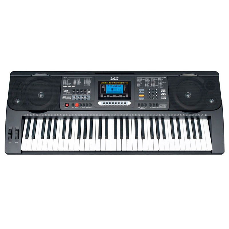 Meike 812 61-key professional performance can be inserted into U disk to play 200 tones of MP3 music electronic organ