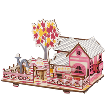 New Land Special Jigsaw Puzzle Season Series Wooden Cottage of Autumn