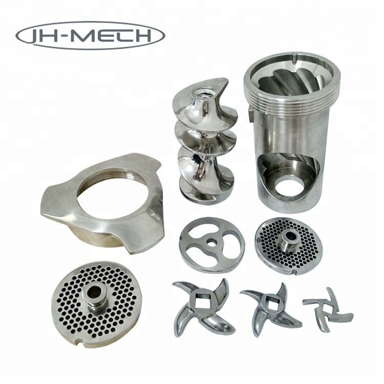 Custom Design OEM ODM Stainless Steel Meat Mincer Spare Parts Blade Mesh Plate Worm Screw Propeller Ring