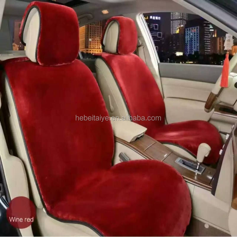 Hoge Dichtheid Kunstmatige Wol <span class=keywords><strong>Auto</strong></span> Seat Cover