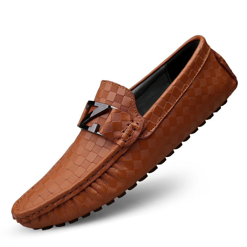 Atlanta Mocassin Girls /& Boys Pebble Printed Leather with Patent Trim Slip On Moccasin Loafer Shoe