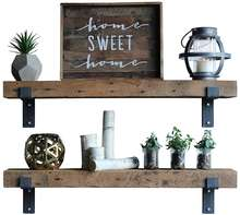 Set of 2 Urban Legacy Barn Wood Shelves Chunky Rustic Industrial - Amish Handcrafted in Lancaster County