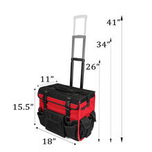 Custom Logo Garden Tool Trolley Bag  Electrician Tool Bag Mechanic Tool Bag with Wheels
