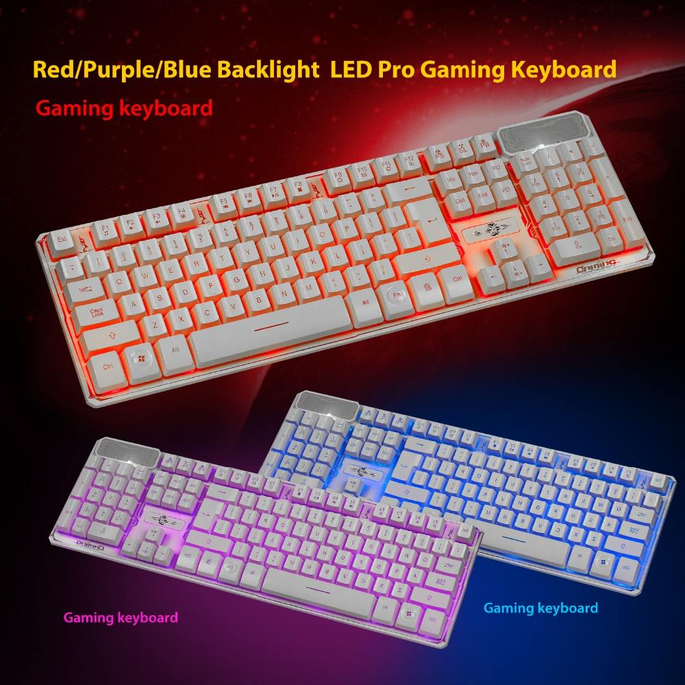 Wholesale High quality waterproof A879 adjustable 3 colors Backlight gaming keyboard