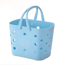 Portable shower  storage basket plastic small bath basket kitchen vegetable storage basket