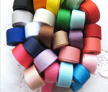 6mm 10mm 19mm 25mm32mm 38mm 40mm 196 color choice Custom Stripe  Polyester solid color Grosgrain Ribbon