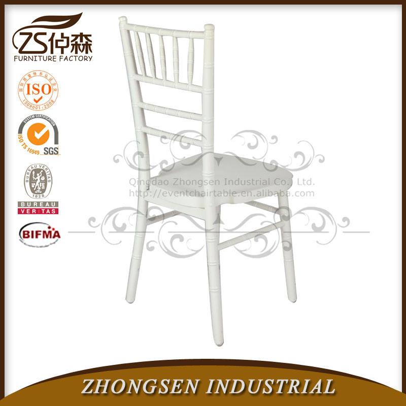 Plein air Durable blanc Tiffan bois chaise de Chiavari