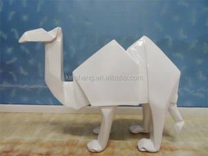 Décoration de la maison métier de résine blanche chameau figurines