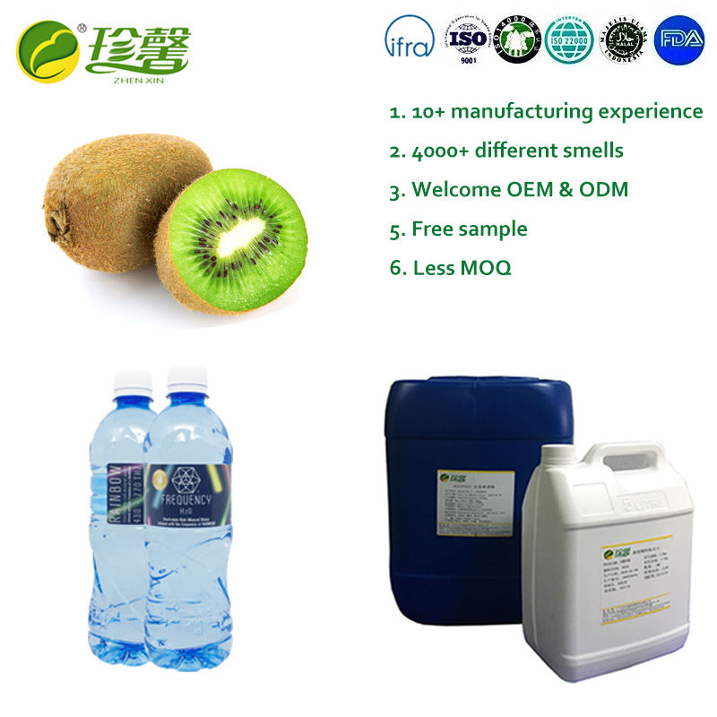 Natural kiwi fruit flavor for mineral water