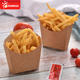 Disposable kraft paper potato chips french fries box