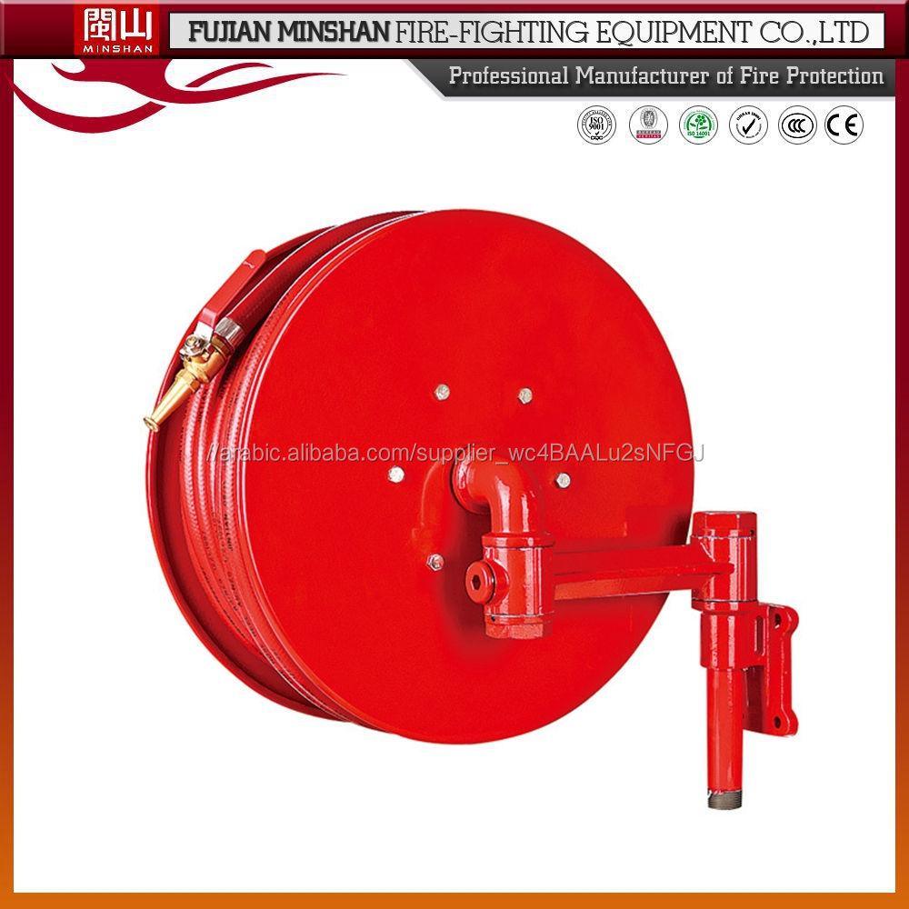 بكرة خرطوم الحريق نوع سوينغ 30m لمعدات مكافحة الحرائق
