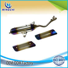 Double blue motorcycle exhaust motorcycle muffler for YAMAHA 125CC