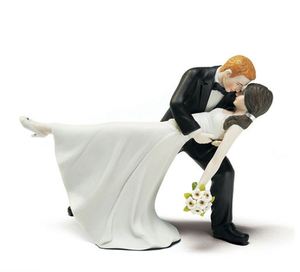 Bruidegom En Bruid Kus Beeldje Wedding Cake Topper, Custom Je Eigen Wedding Cake Toppers