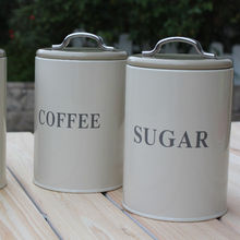 Metal  Vintage coffee Sugar Tea  KITCHEN CANISTERS sets