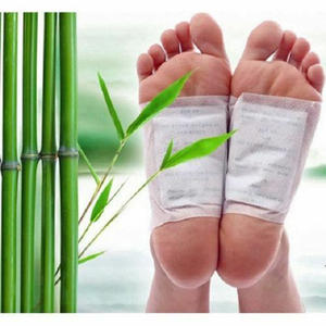 best Chinese herb foot detox pad Bamboo slim detox foot patch with adhesive