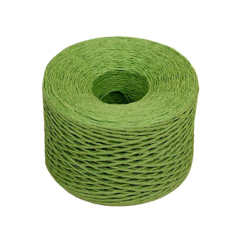 Raffia Stripes Paper Bag String Twisted Paper Craft Strings Cord Rope In Green for DIY Making String Paper 2mm 200cm