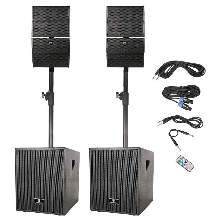 Set Speaker Rumah Multimedia Pesta 12 Inci 2.1 Pa Karaoke Kolom Aktif Array Bass Subwoofer Dj Kotak Speaker & Set Sistem Klakson