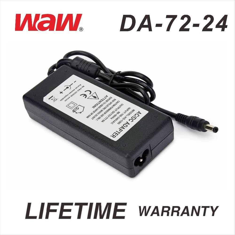 24 V 3A ac dc adaptador de energia DA-72-24 para cctv camera e LED strip