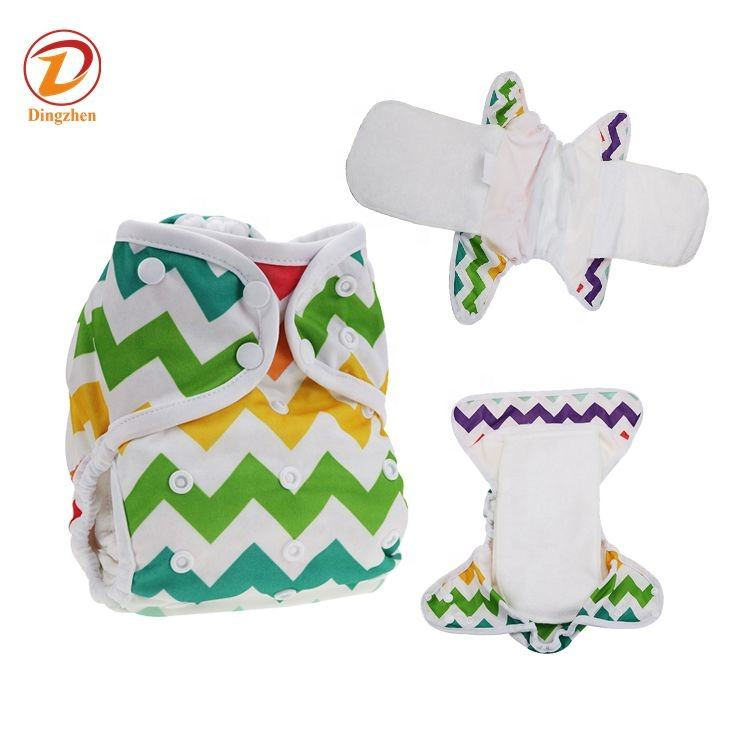 Nice Printed Sew 2 bamboo fitted insert Carton AIO Cloth diapers