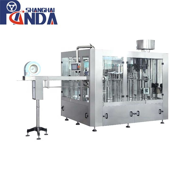 High speed liquid filling capping labeling line/3 in 1 filling equipment for beverage liquid products