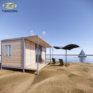 Tiny Beautiful cheap modern prefabricated beach house,well design fast build villa,shipping container hotel