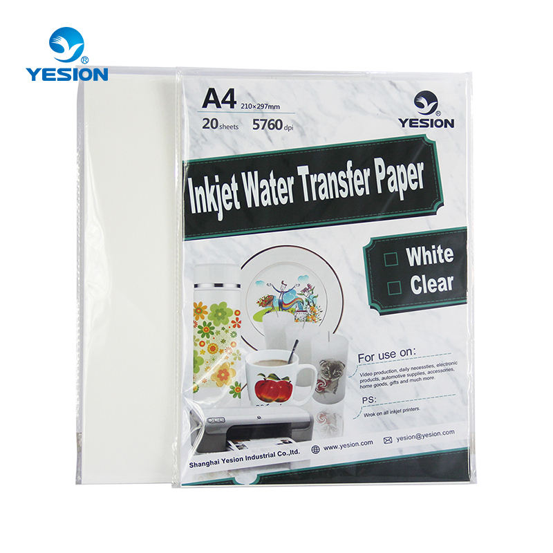 top quality A4 inkjet water slide decal paper no need transfer machine for printing