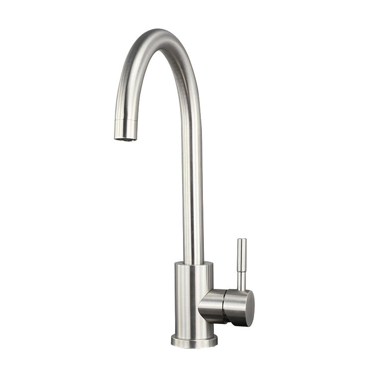 High Quality Sanitary Ware Stainless Steel Hot and Cold Single Handle Deck Mounted Sink Water Mixer Tap Robinet Kitchen Faucet