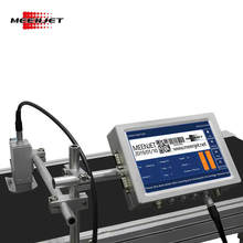 Meenjet Variable Expiry Date QR Code Counter 2D GS1 Barcode Coder Printer 7 Inch Industrial Inkjet Coding Machine for Sale