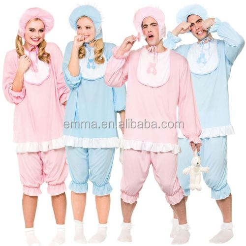 Adulte Grand Mignon Cry Baby Déguisement Hommes Dames Tenue Costume Barboteuse SC1143