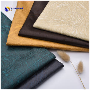 Chinese Factory Bronzing Knitted Suede Sofa Fabric Foiled Suede Upholstery Furniture Cushion Leather Like Textile